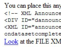 XML Document Reader