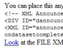 XML Document Reader