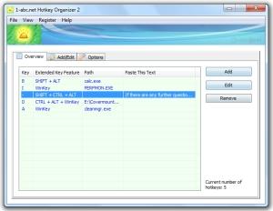 1-abc.net Hotkey Organizer