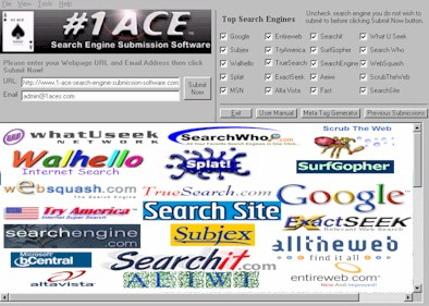 #1 ACE Search Engine Submission Software