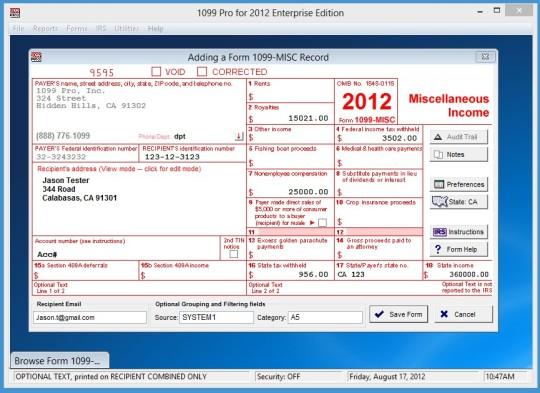 1099 Pro Enterprise Edition