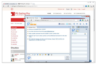 123 Flash Chat Module for Datingpro