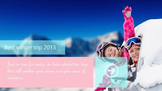 2013 World's Best Winter Trips For Tourist Guide for Windows 8