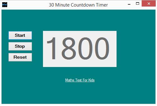 رایگان دانلود 30 Minute Countdown Timer برای Windows 7