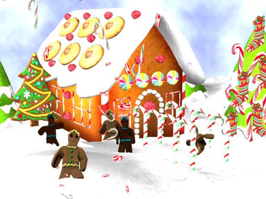 3D Dancing Gingerbread Men