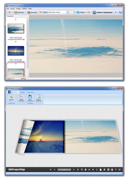 3D PageFlip for Image