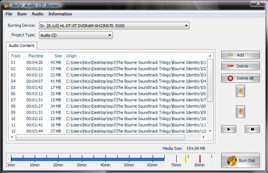 3nity Music CD Burner