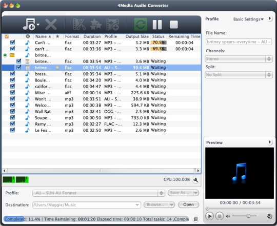 4Media Audio Converter