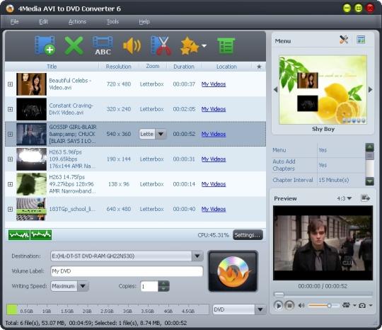 4Media AVI to DVD Converter