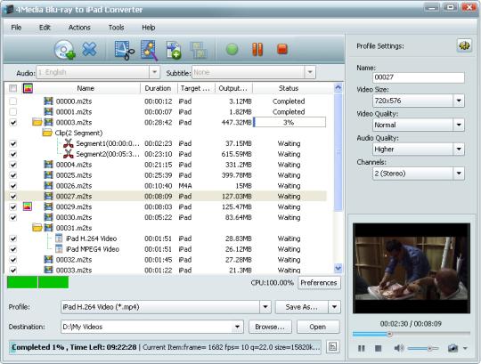 4Media Blu-ray to iPad Converter