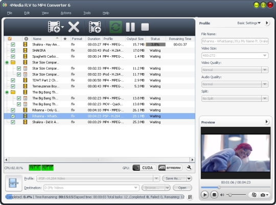 4Media FLV to MP4 Converter