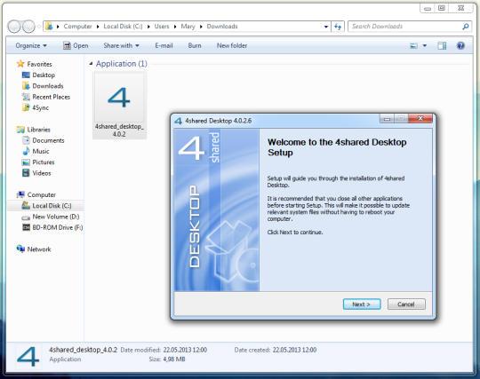 4shared Desktop