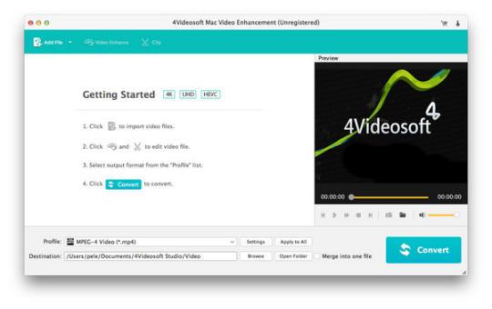 4Videosoft Mac Video Enhancement