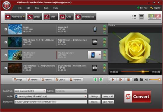 4Videosoft Mobile Video Converter