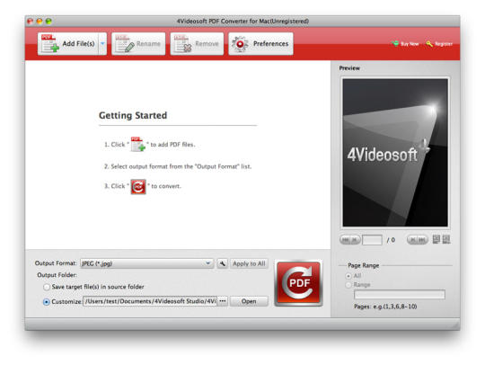 4Videosoft PDF Converter for Mac