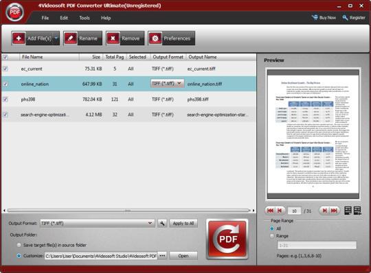 4Videosoft PDF Converter Ultimate