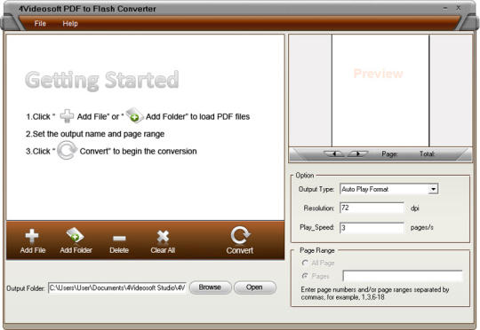 4Videosoft PDF to Flash Converter