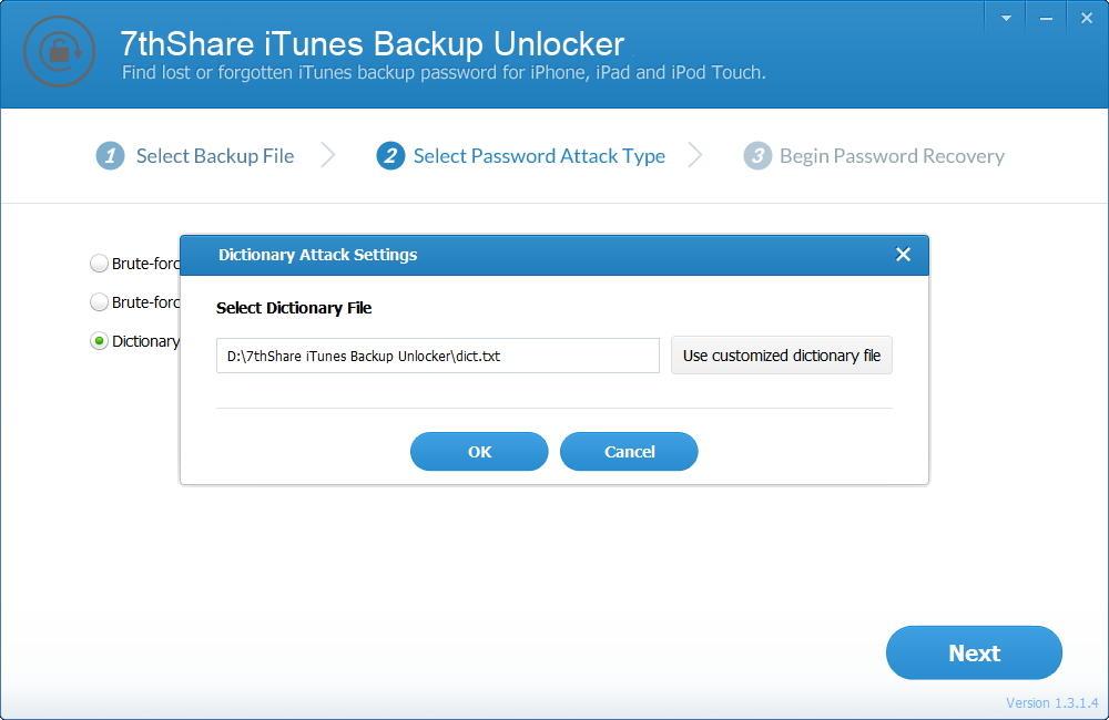 7thShare iTunes Backup Unlocker Pro