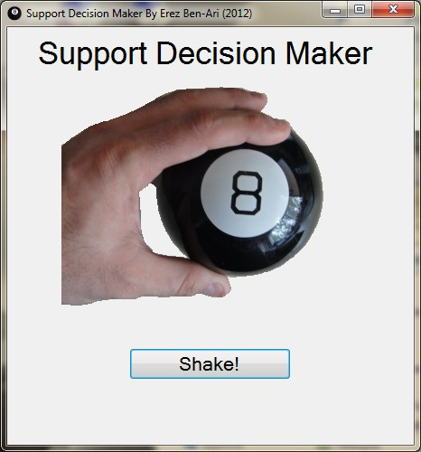 8 Ball Support Decision Maker