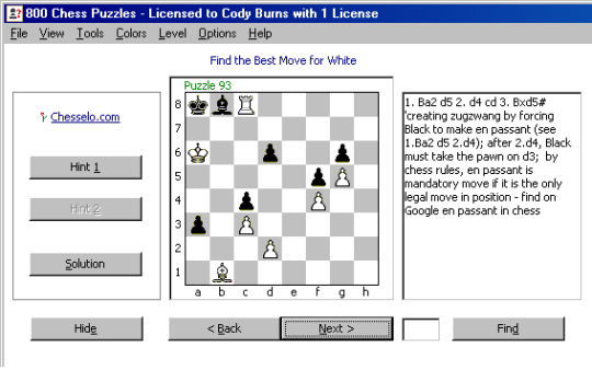 800 Chess Puzzles