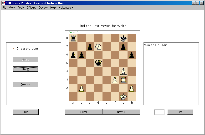 900 Chess Puzzles