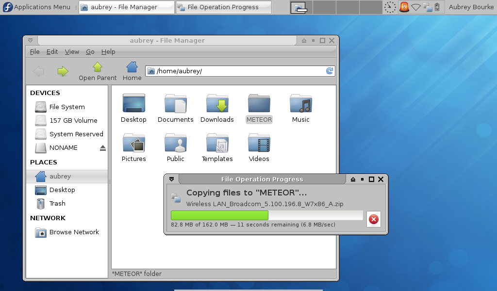A Theme by Aubrey for Fedora 18