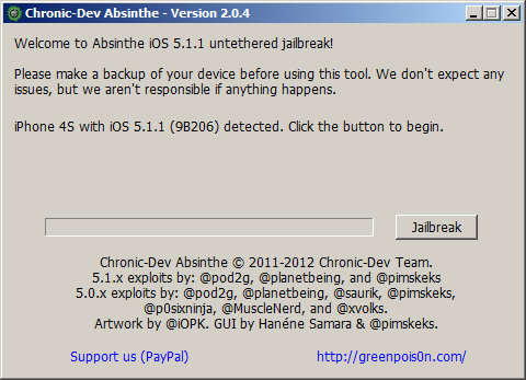 Absinthe for iOS 5.1.1 for Windows