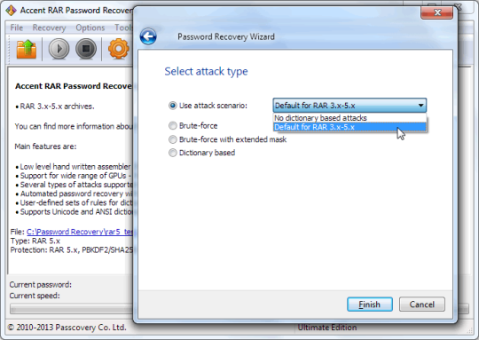 Accent RAR Password Recovery (64-bit)