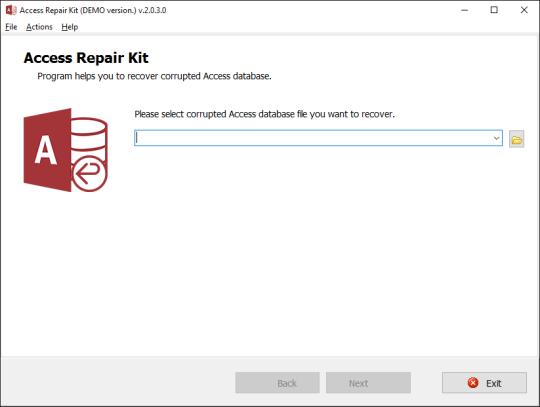 Access Repair Kit