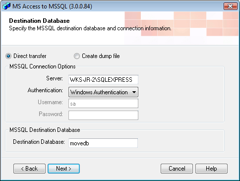Access to MSSQL