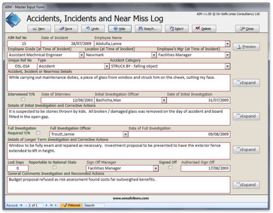 Accident and Investigation Management