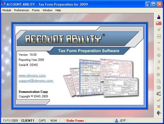 Account Ability 2009 Tax Form Preparation