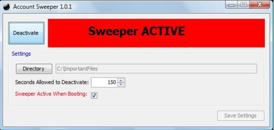 Account Sweeper