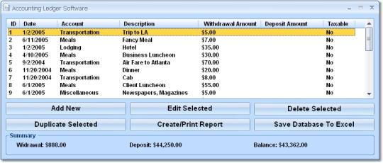 Accounting Ledger Software