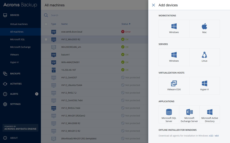 Acronis Backup Virtual Host