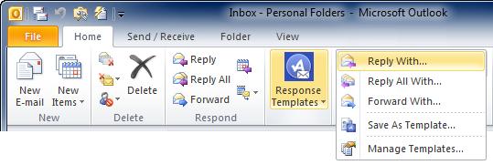ActiveData Response Templates for Microsoft Outlook