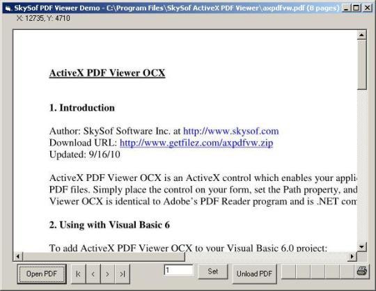 ActiveX PDF Viewer