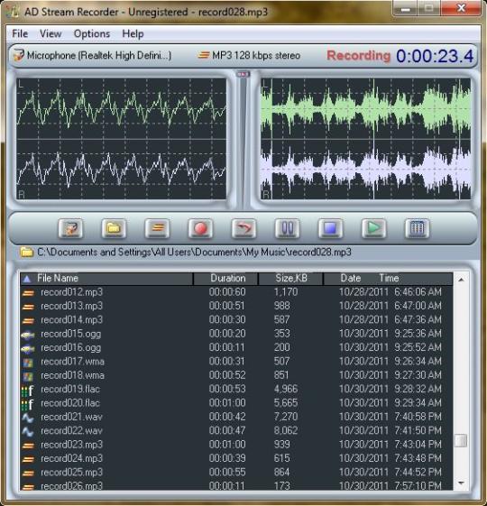 AD Stream Recorder