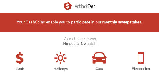 Adblock Cash for Chrome