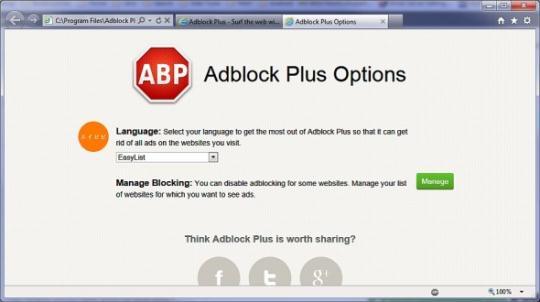 Adblock Plus for Internet Explorer (64-bit)