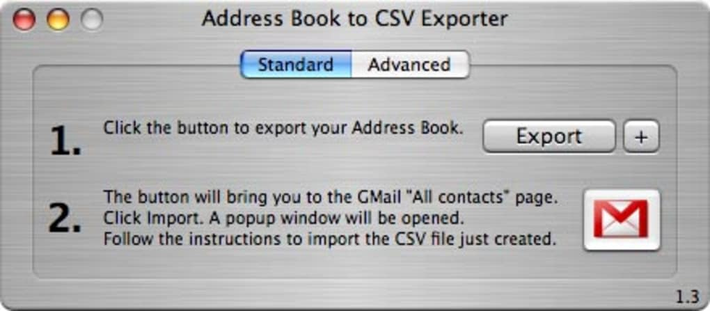 Address Book to CSV Exporter
