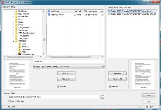 ADEO TIFF to PDF Converter
