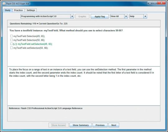 Adobe Flash CS5 ACE Exam Aid