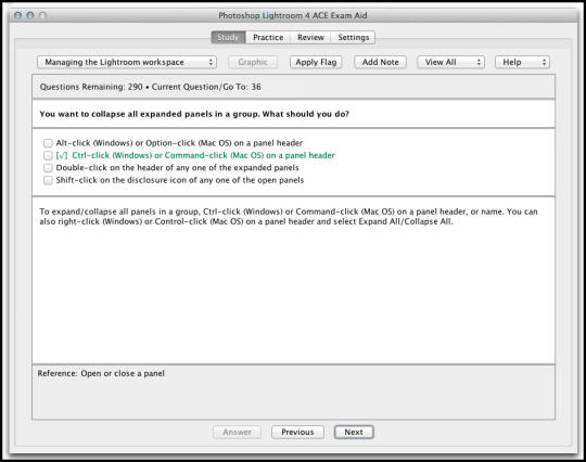 Adobe Photoshop Lightroom 4 ACE Exam Aid