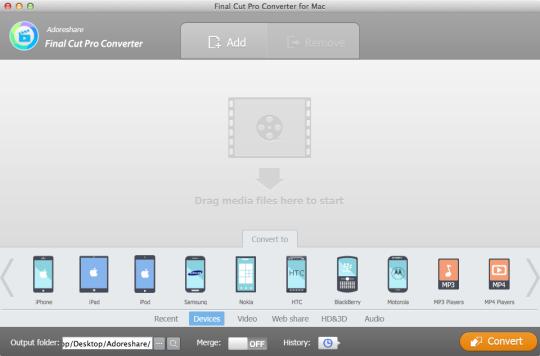 Adoreshare Final Cut Pro Video Converter