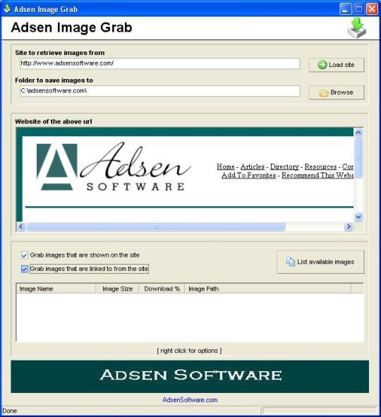 Adsen Image Grab
