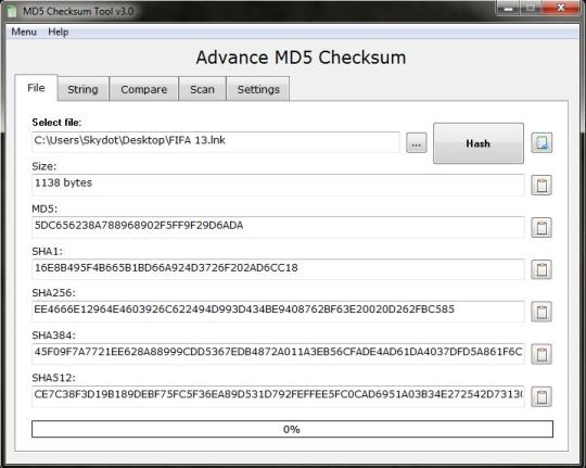 Advance MD5 Checksum