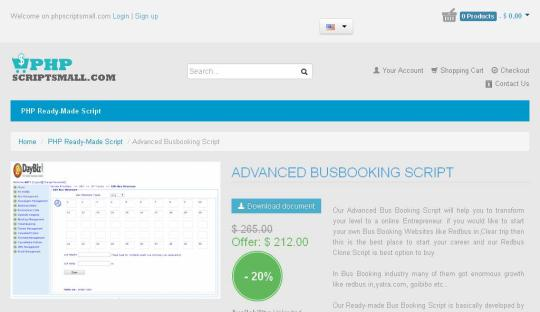 Advanced Bus Booking Script