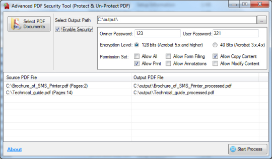 Advanced PDF Security Tool