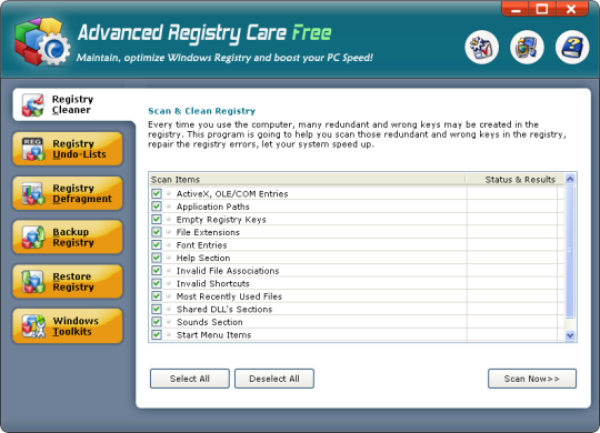 Advanced Registry Care Free